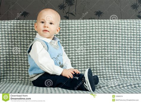 baby on couch baby on the sofa royalty free stock images image 12950519