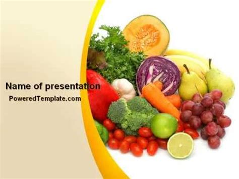 powerpoint templates vegetables free download fruits and vegetables powerpoint template by