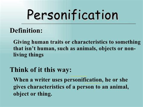 Personification Definition