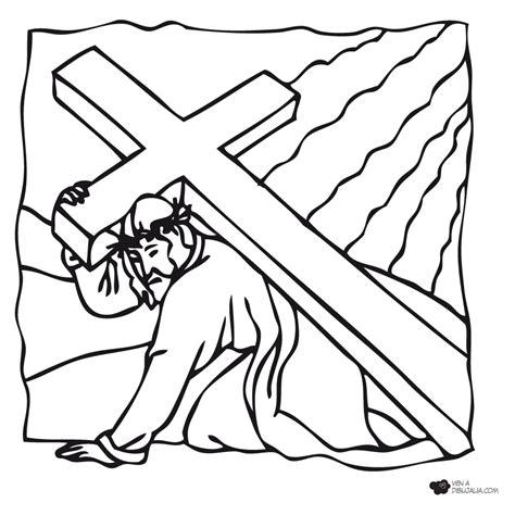 imagenes del via crucis en blanco y negro la via crucis de jesus para colorear imagui