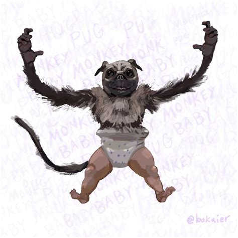 baby pug monkey bo365 pug monkey baby you the real mvp pugs pugs pugs