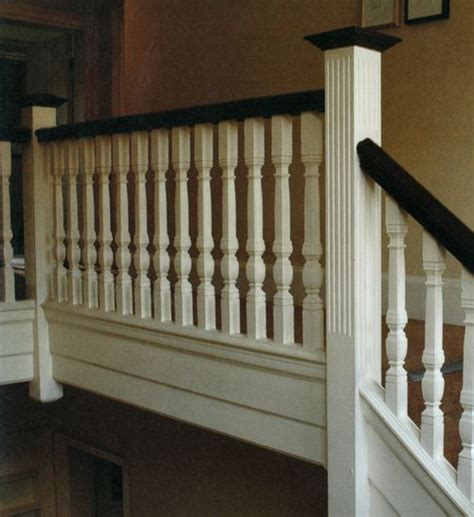replace railing to sunken living room with this home