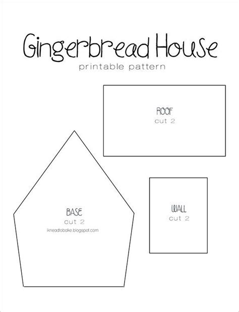 gingerbread house card template gingerbread house templates free premium