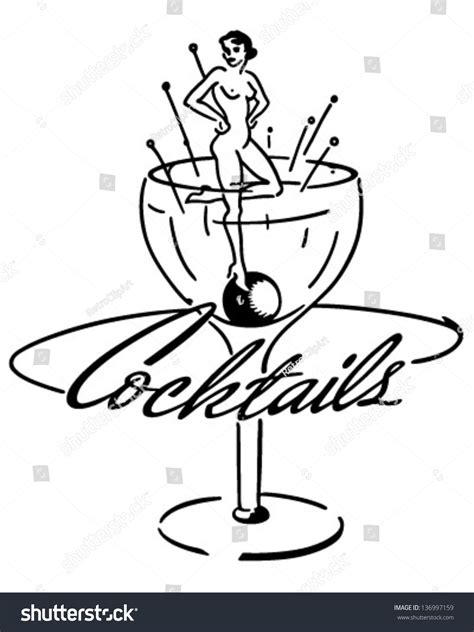 retro cocktail clipart cocktails retro clip illustration 136997159