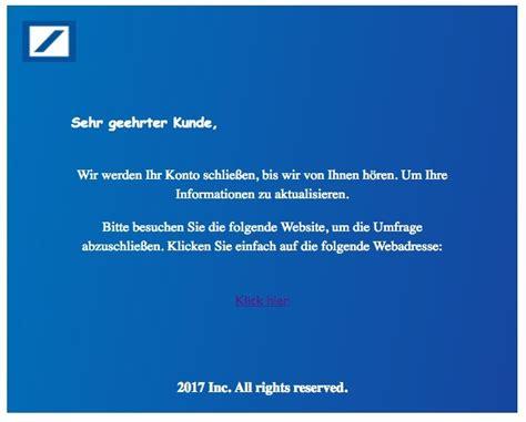 deutsche bank spam warnung e mails im namen der deutschen bank sind phishing