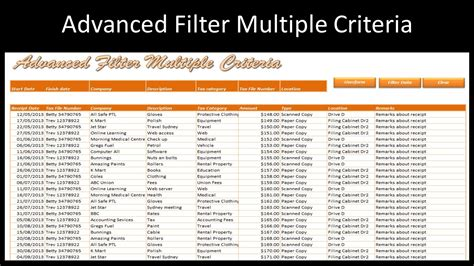tutorial excel advanced filter excel advanced filter multiple criteria online pc learning