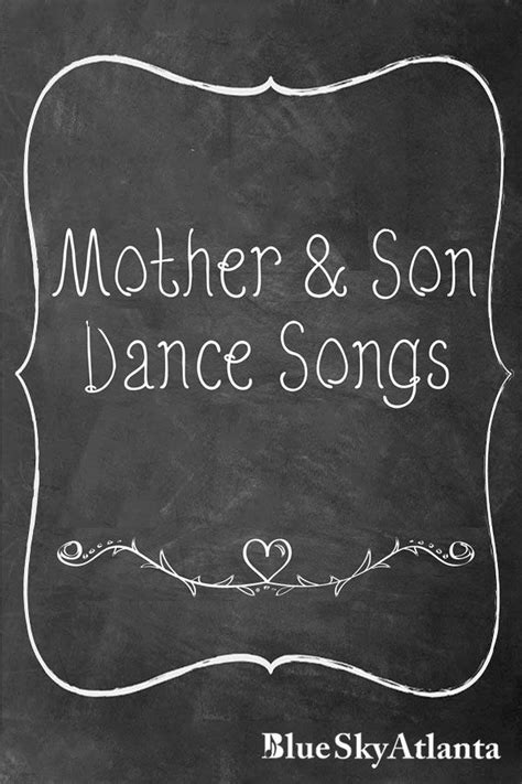 Best Mother Son Dance Songs Ideas for Your Wedding