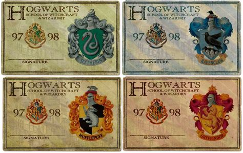 Hogwarts Id Card Template by Hogwarts Id S Harry Potter