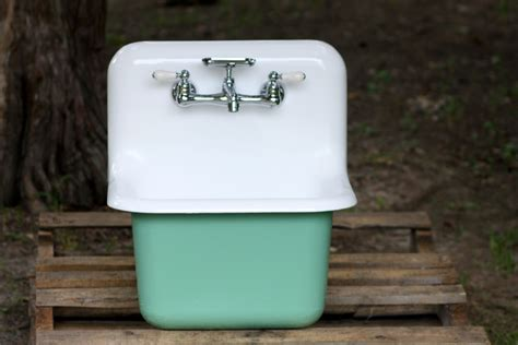 cast iron wall mount sink 1950 s refinished cast iron wall mount farmhouse utility