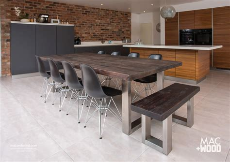 contemporary wood kitchen tables the signature table by mac wood see our most popular design
