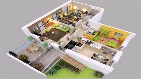 3d house plan image sle sle picture living room 3 bedroom house plans ground floor youtube
