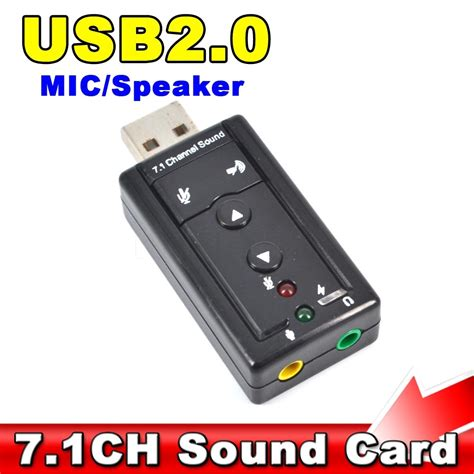 Sound Card Usb Untuk Rekaman aliexpress buy external usb audio sound card adapter 7 1 ch usb 2 0 mic speaker