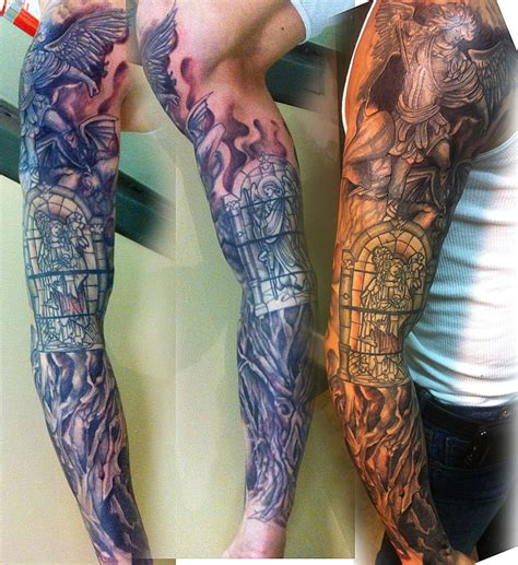tattoo sleeve cover up sleeve coverup by mikee h on deviantart