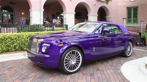roll royce purple rare 1 of 1 purple rolls royce phantom drophead coupe