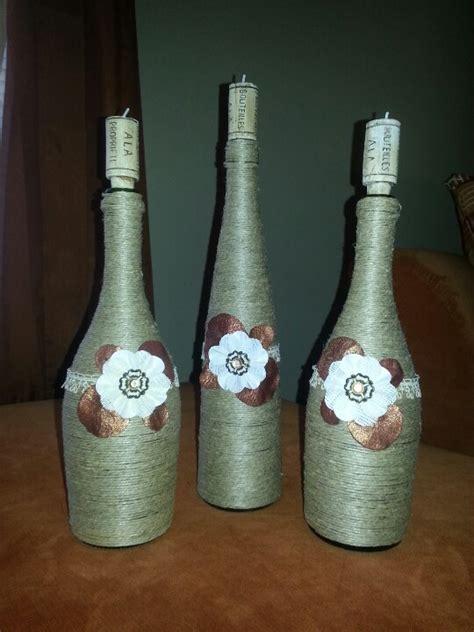 wine bottle home decor my homemade wine bottle decor wino pinterest