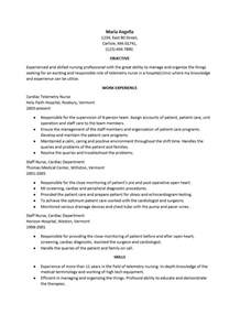 telemetry nurse resume resume template 2017