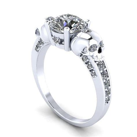 best 25 skull wedding ring ideas on