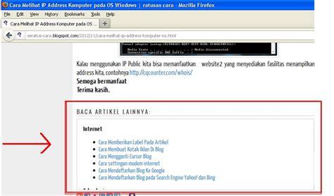 membuat ratusan blog cara membuat quot baca artikel lainya di blog quot ratusan cara