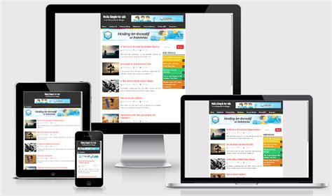 maha simple responsive blogger template akutemplates