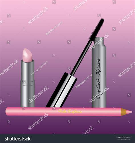 Lipstick Free Eyeliner lipstick mascara and eyeliner stock vector illustration