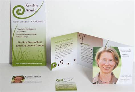 Visitenkarten Heilpraktiker by Sojutta Web Designer Grafik Layout Gem 228 Lde Zeichner