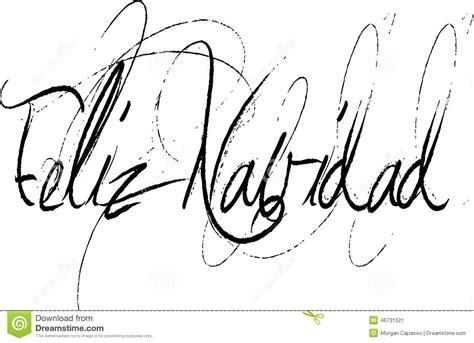 feliz navidad  handwritten script stock vector image