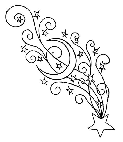 shooting stars free colouring pages