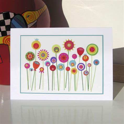 greeting card she grew paper flowers on luulla