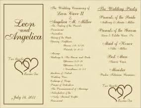 Program Templates Free by 1000 Ideas About Wedding Program Sles On