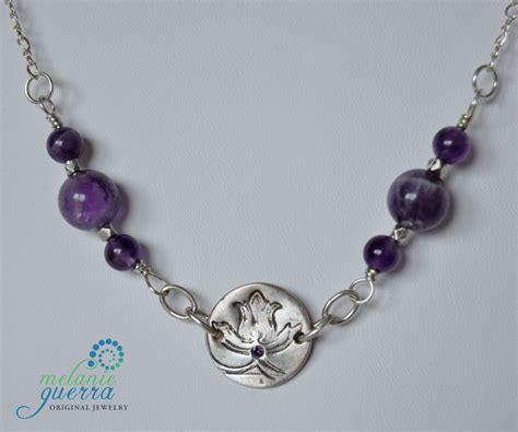 Handcrafted Silver Necklaces - handmade amethyst and silver necklace
