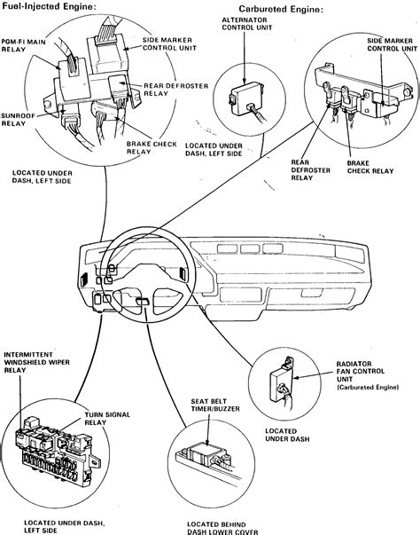2000 honda accord fuel relay location where is the fuel relay located at on the 1999 honda