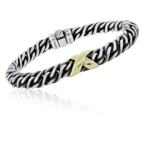 david yurman two tone woven x bracelet boca raton
