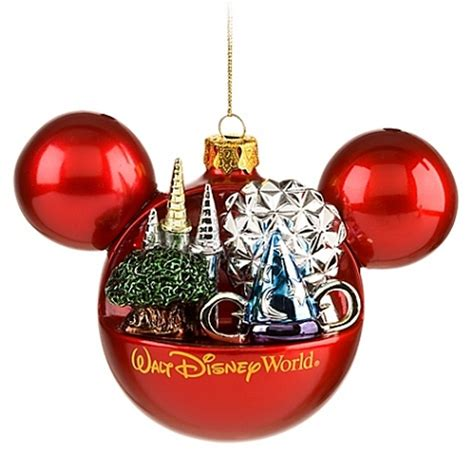 disney christmas ornament mickey mouse four parks one world