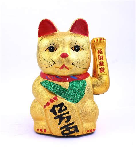 cat with swinging arm 27cm swinging arm ceramic cat