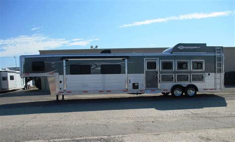 pin by equine rv on living quarter floor plans pinterest lakota 4 horse 16 living quarters bighorn with 12 slide