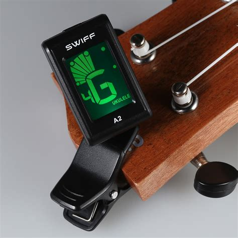 Tuner Gitar 4 swiff a2 mini clip on lcd automatic digital tone tuner for