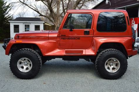 new jeep for sale restored jeep wrangler renegade yj all new components