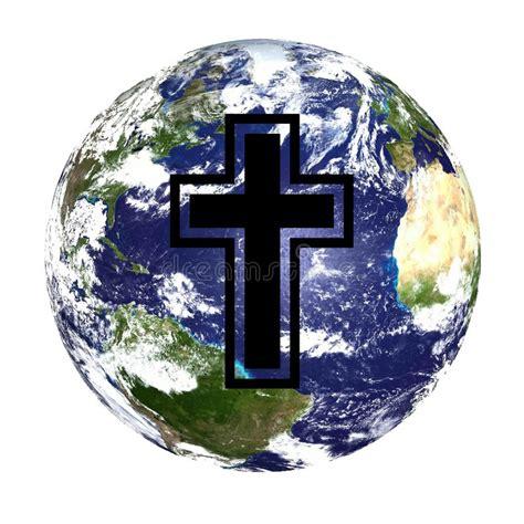 mundo do homem espiritual imagem de stock royalty free globo e cruz do mundo foto de stock royalty free imagem