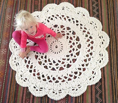 doily rug pattern my crocheted doily rug pattern in matto ohje suomeksi alfombras