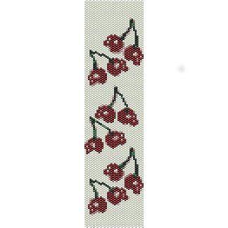 bead loom bracelets for sale cherry skulls loom beading pattern for cuff bracelet