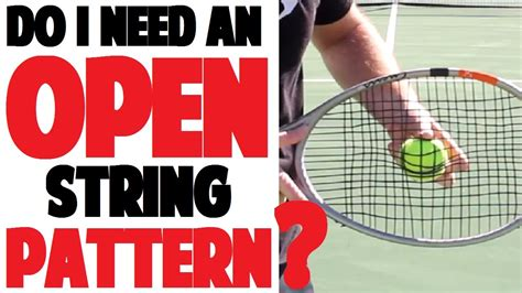string pattern tennis free patterns picking a tennis racket string pattern part 3 of 4