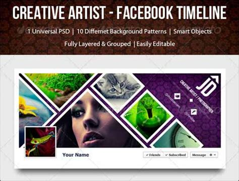 40 psd facebook timeline covers you ll love designbump
