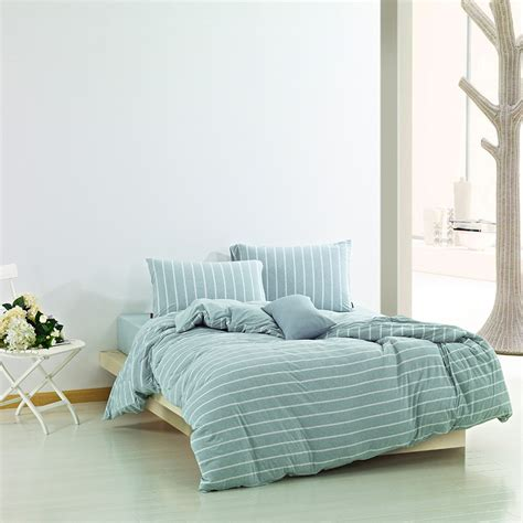 muji bedding textile brief pure cotton knitted fitted four piece set