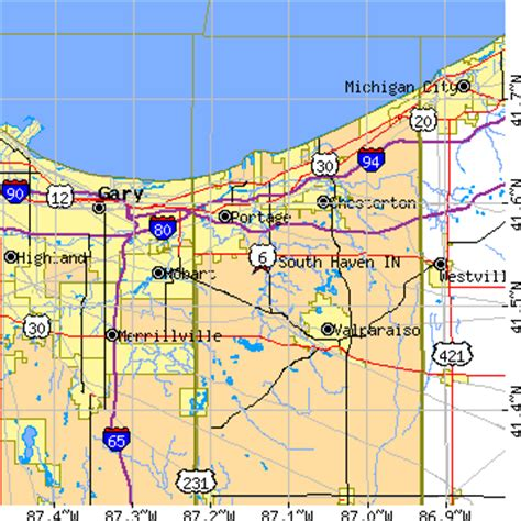 zip code map valparaiso indiana south haven indiana in population data races