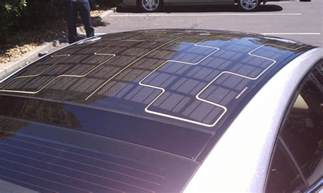 Electric Car With Solar Panel On Roof Gigaom How Practical Is A Solar Powered Car