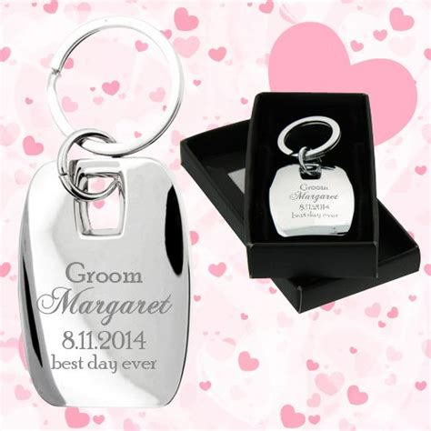 Wedding Keychains by Customized Wedding Favors Messina Metal Keychains