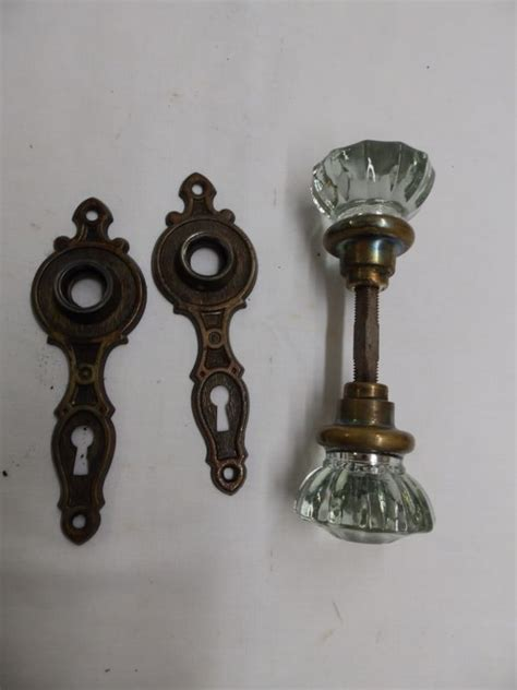 Vintage Glass Door Knobs For Sale Vintage Glass Brass Door Knobs For Sale