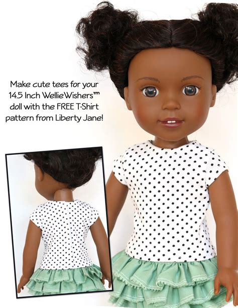 t shirt doll design liberty jane free t shirt doll clothes pattern for