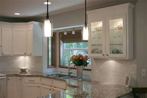 white of pearl 1 quot x 1 quot backsplash traditional
