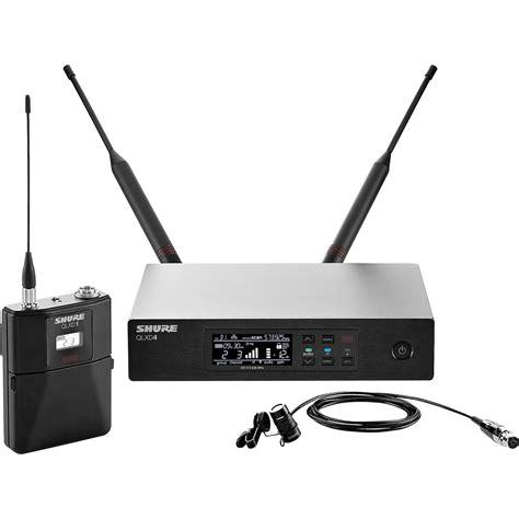 Wireless Microphone Shure Bisa Ubah Frequensi shure qlxd14 83 lavalier wireless microphone qlxd14 83 g50 b h